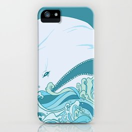Moby Dick Illustration iPhone Case