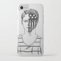 american psycho iPhone & iPod Cases featuring American Beauty/American Psycho by Katy Lawler