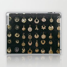 Gold Earrings in Safed Laptop & iPad Skin