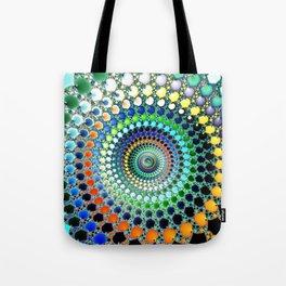 Fractal Spiral Trippy Art Print Tote Bag