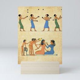 Modern hieroglyphs: Ancient Egypt lifestyle and costumes Mini Art Print