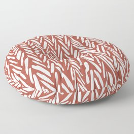 Boho mudcloth herringbone stripe pattern - clay Floor Pillow