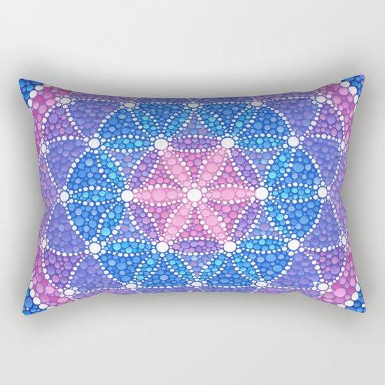 Starry Flower of Life Rectangular Pillow