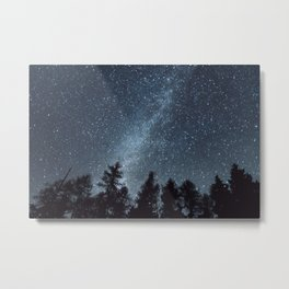 Milky Way in the Woods | Nature and Landscape Photography Metal Print