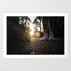 Louisiana Asphalt & White Socks Art Print