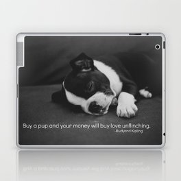 Puppy Love Rudyard Kipling Quote Laptop & iPad Skin