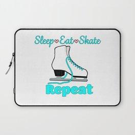 Sleep-Eat-Skate-Repeat in Turquoise Laptop Sleeve