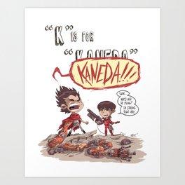 """""""K"""" Is For """"Kaneda"""" Art Print"""
