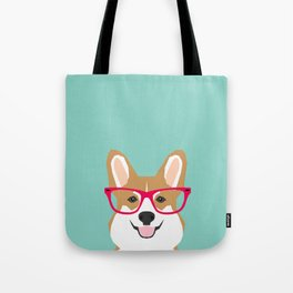 Teagan Glasses Corgi cute puppy welsh corgi gifts for dog lovers and pet owners love corgi puppies Tote Bag