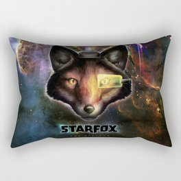 Star Fox McCloud Epic Space Poster Rectangular Pillow