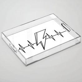 Bowie Heartbeat Acrylic Tray