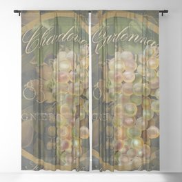 Wines of France Chardonnay Sheer Curtain