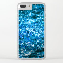 Water Color - Blue Clear iPhone Case