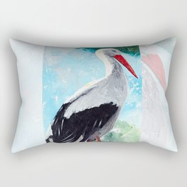 Animal - The beautiful stork - by LiliFlore Rectangular Pillow