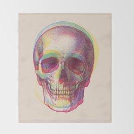 acid calavera Throw Blanket