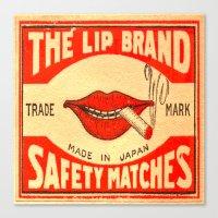 lip Canvas Prints featuring Lip Service by Wanker & Wanker