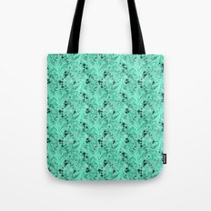 Elegant Flowers & Leaves Pattern Tote Bag