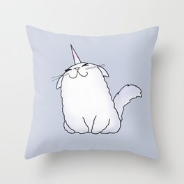 Uni-Kitty Throw Pillow