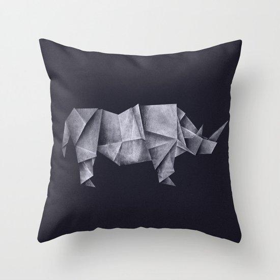 Rhinogami Throw Pillow