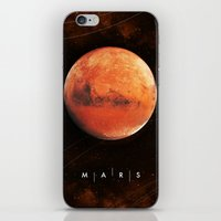 mars iPhone & iPod Skins featuring MARS by Alexander Pohl