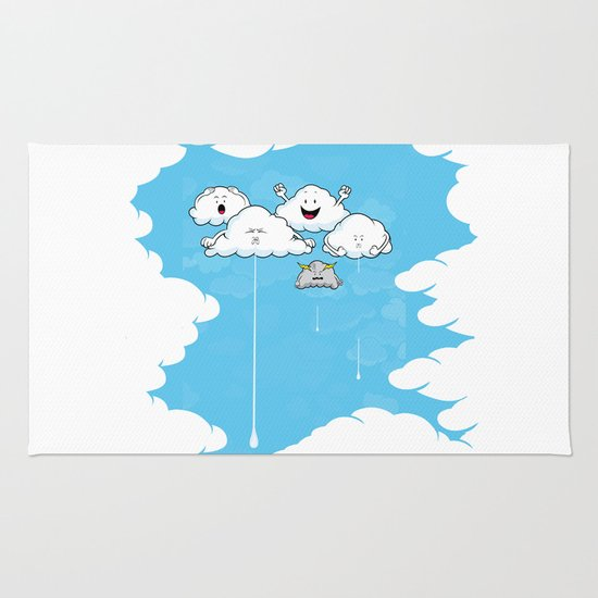 Young Clouds fooling around Rug