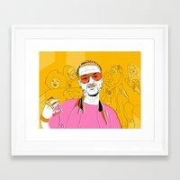 riff raff Framed Art Prints featuring Riff Raff by Dewey Saunders