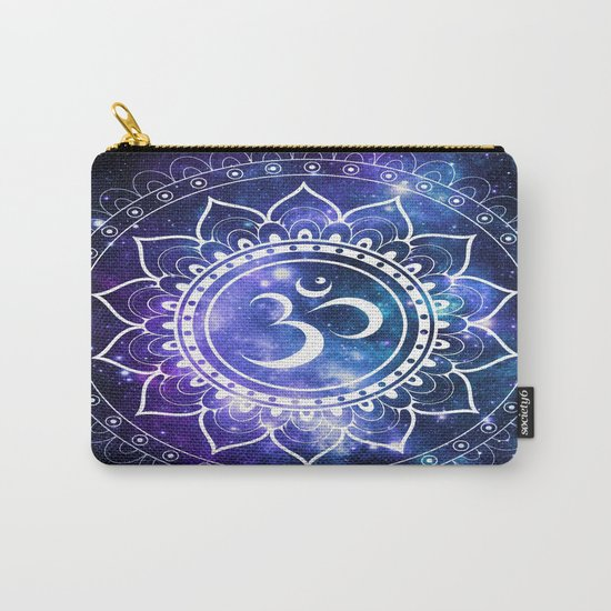 Om Mandala: Violet & Teal Galaxy Carry-All Pouch