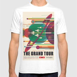 NASA Retro Space Travel Poster The Grand Tour T-Shirt