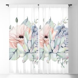 Pretty Succulents by Nature Magick Blackout Curtain