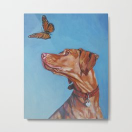 VIZSLA dog art portrait from an original painting by L.A.Shepard Metal Print