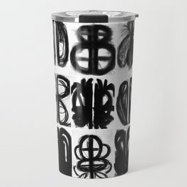 Abstract Charcoal Drawings Travel Mug