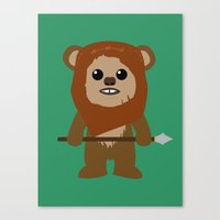 ewok Canvas Prints featuring Ewok forever by Bonitismo