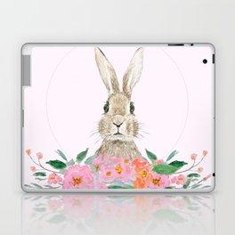 rabbit and pink camellia flower Laptop & iPad Skin