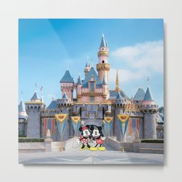 Mickey and Minnie Metal Print
