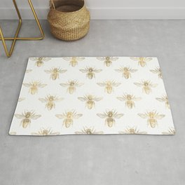 Gold Bee Pattern Rug