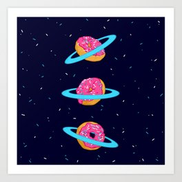 Sugar rings of Saturn Art Print