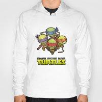 ninja turtles Hoodies featuring Kawaii Mutant Ninja Turtles by Squid&Pig