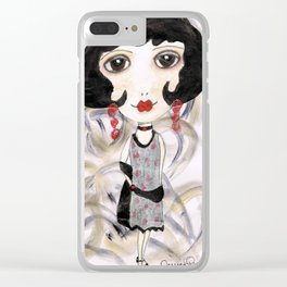 Margot, the flapper girl Clear iPhone Case