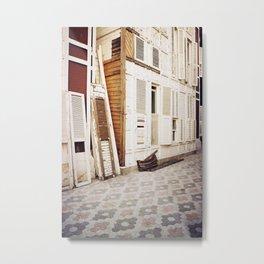 wooden shutters Metal Print