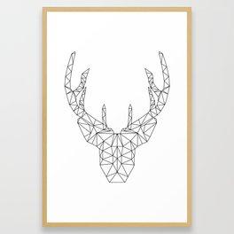 Low poly reindeer Framed Art Print