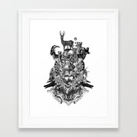 wizard Framed Art Prints featuring Wizard by DIVIDUS
