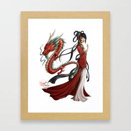 Chinese dragon pure Framed Art Print