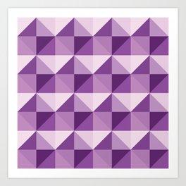 Purple shades of diamonds Art Print