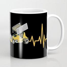Heartbeat Sprint Car Racer Driver Gift Coffee Mug