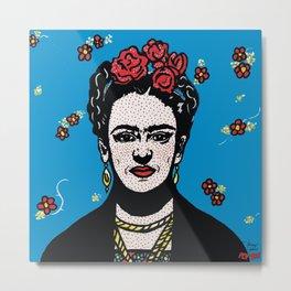 Frida | Pop Art Metal Print