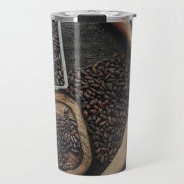 Peeling the roasted cacao beans Travel Mug