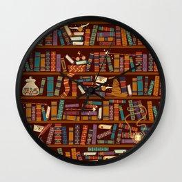 Bookshelf Wall Clock