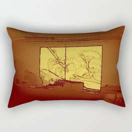 BLACK Electronic Underground #4 Rectangular Pillow