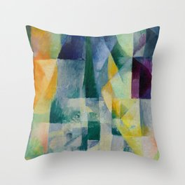 "Robert Delaunay ""Simultaneous Windows"" (2nd Motif, 1st Part), 1912 Throw Pillow"