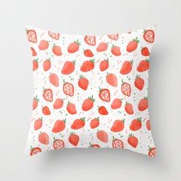 Strawberry's Throw Pillow